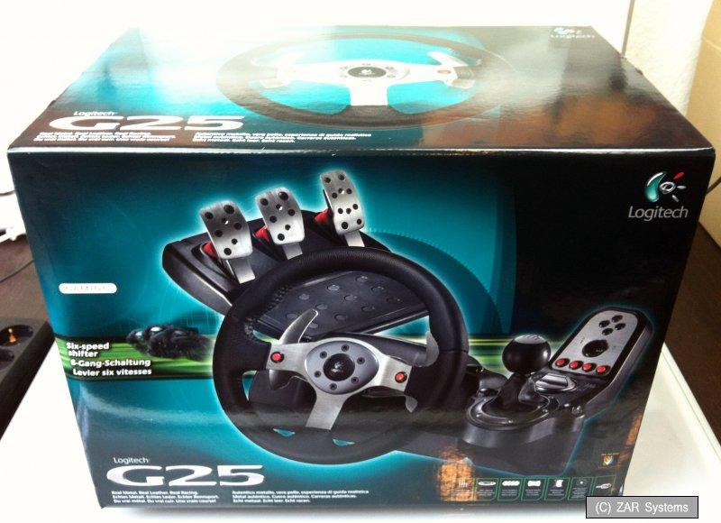 der klassiker rarit t logitech g25 racing wheel pc ps2. Black Bedroom Furniture Sets. Home Design Ideas