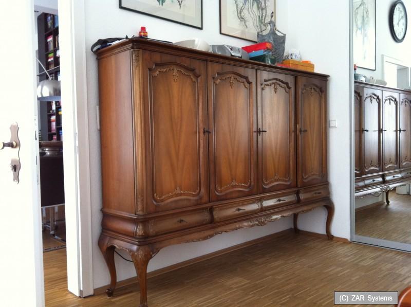 sideboard kommode anrichte aus holz 200x150x40cm eche vollholz altdeutsch ebay. Black Bedroom Furniture Sets. Home Design Ideas