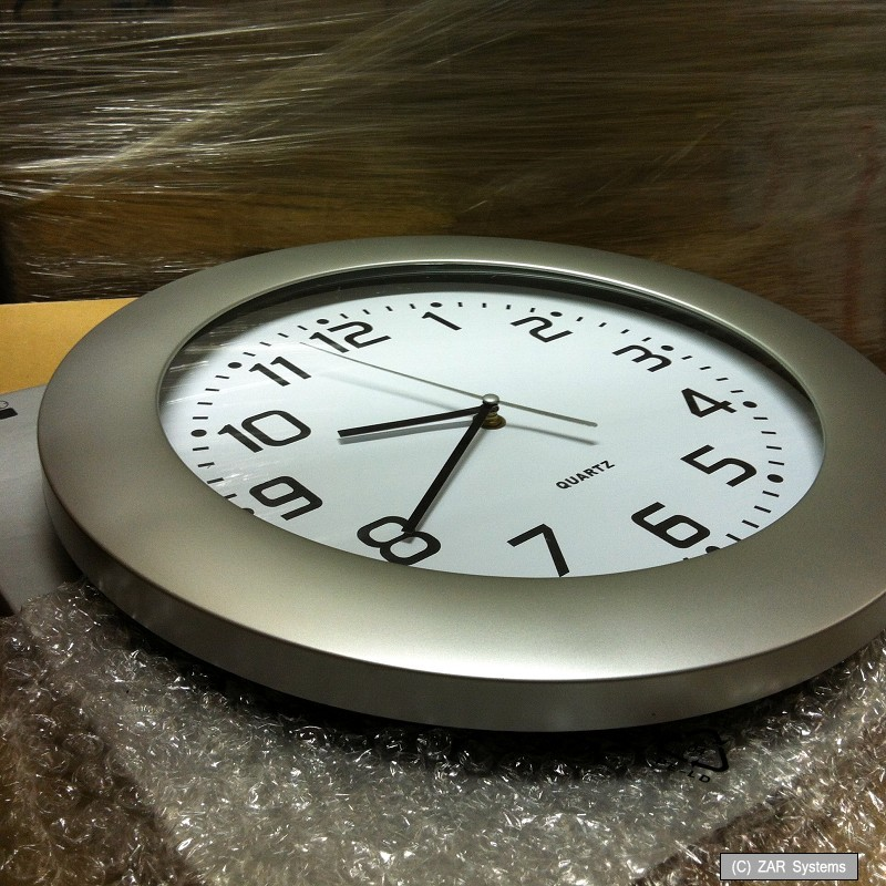 35cm xxl horloge murale horloge de gare montre montre quartz im argent optique ebay. Black Bedroom Furniture Sets. Home Design Ideas