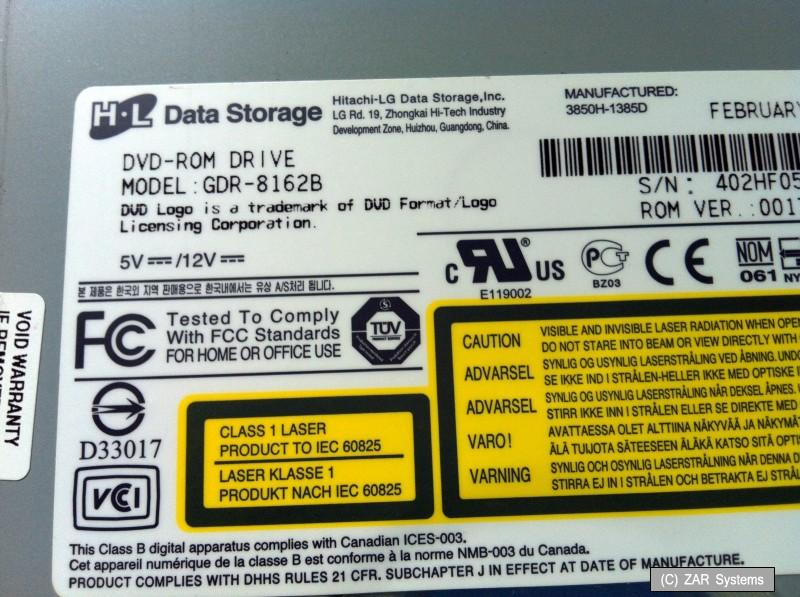 LG GDR-8162B 16x DVD-ROM Drive