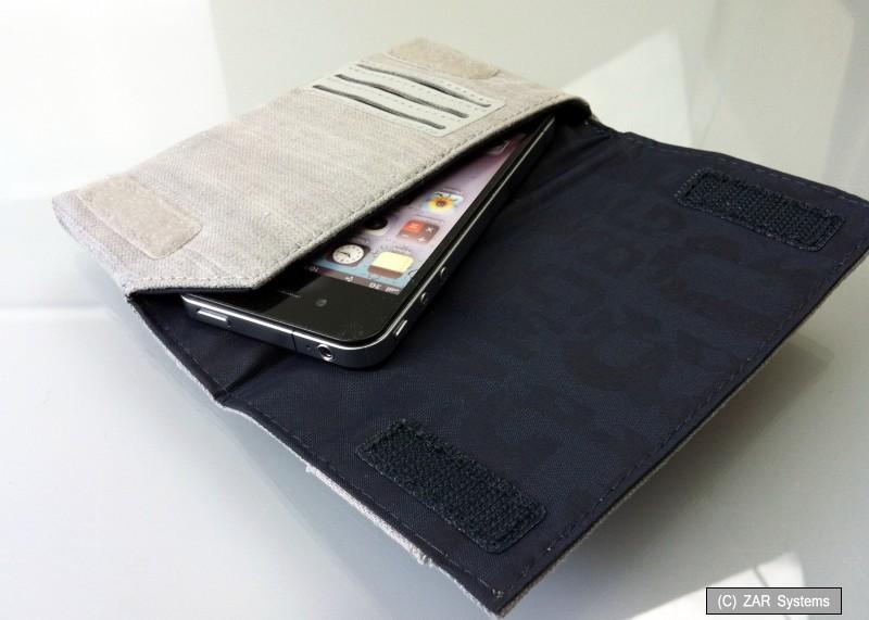 golla g1231 handy tasche 130x80mm grau f r iphone 4s 5s. Black Bedroom Furniture Sets. Home Design Ideas