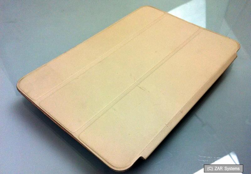 apple smart leder case beige mf048zm a h lle folio f r. Black Bedroom Furniture Sets. Home Design Ideas